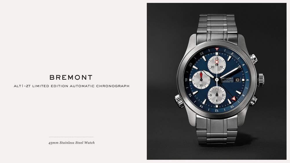 9ba39ebfbf7e Bremont ALT1-ZT Limited Edition Automatic Chronograph 43mm Stainless Steel  Watch