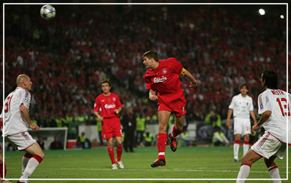 f27275ac12ca6 25 May 2005 – The Miracle of Istanbul Scores the first goal as Liverpool  fight back from 3-0 down against AC Milan in the Champions League final in  Turkey ...