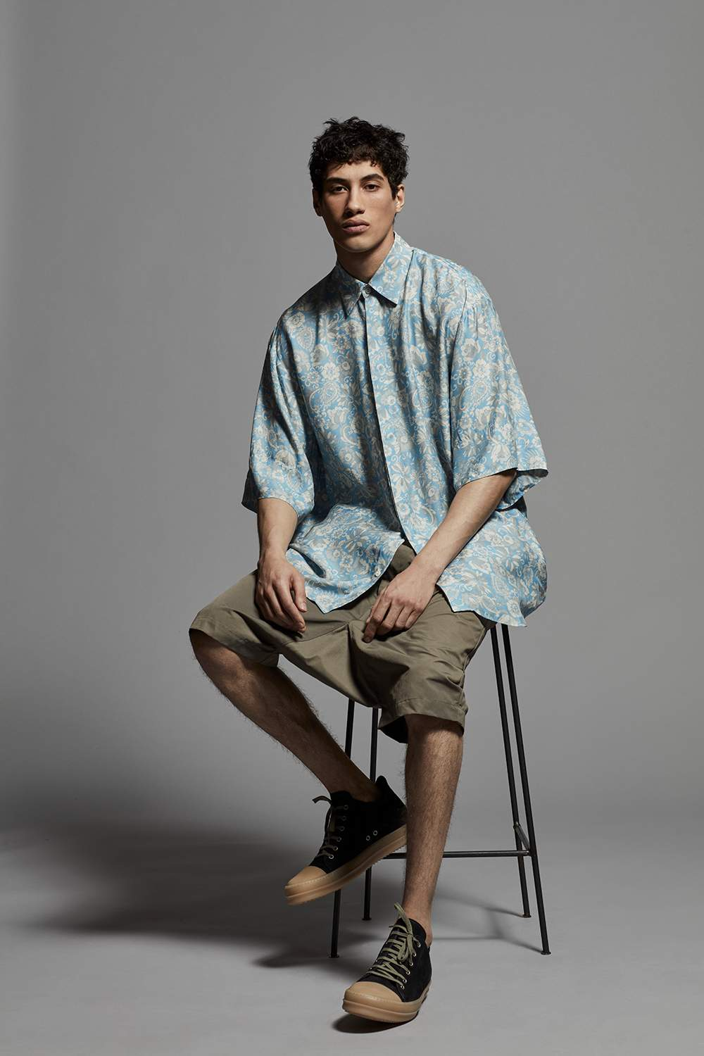 853f0d29ae1e Dries Van Noten Oversized Floral-Print Voile Shirt