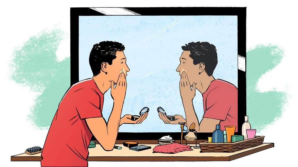 65422291a408 Concealer, self-tan, even an eyebrow pencil – men's cosmetics is big news