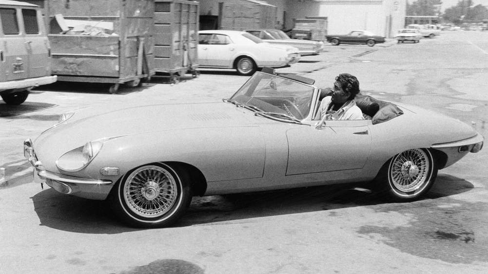 2fe8fa23 Mr Dean Martin arrives at NBC Studios in Burbank, California, in his Jaguar  XKE Convertible, circa 1968. Photograph by NBC/ NBCU Photo Bank via Getty  Images