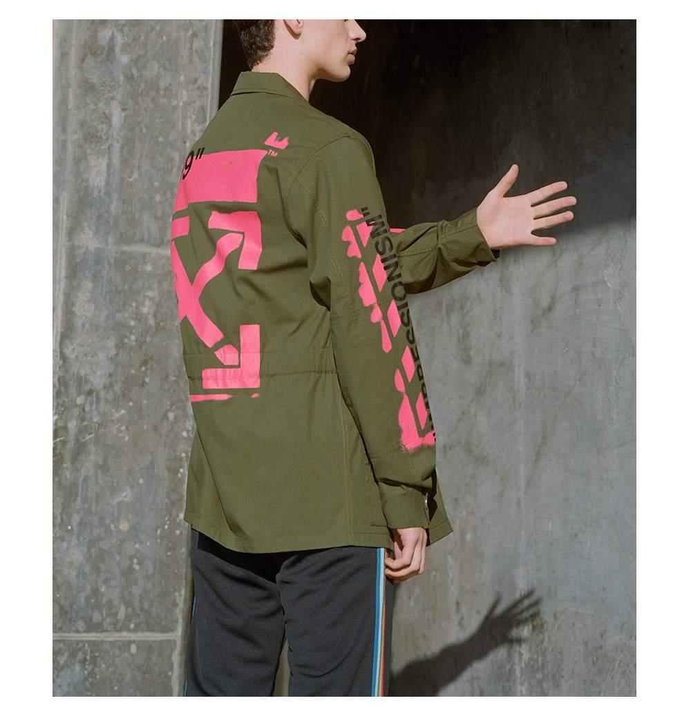 8406185f88d Off-White Logo-Print Cotton-Blend Field Jacket