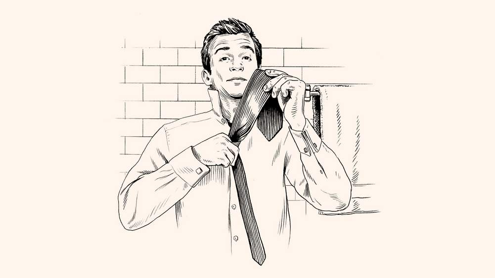 How to nail the perfect tie knot from the archive the journal lay the front blade over the back blade and then gripping the tie with your left hand so that your thumb is against the back of the back blade ccuart Gallery