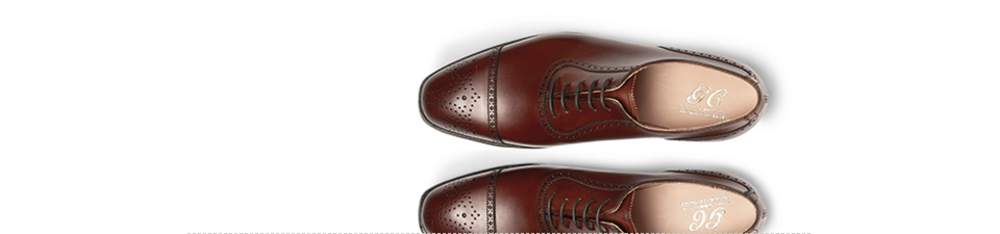 "dc7991a9d ... and often serrated, toecap edge, with decorative perforations in the  centre of the toecap. Note: no ""W"" design. Adam Cap-Toe Burnished-Leather  Oxford ..."