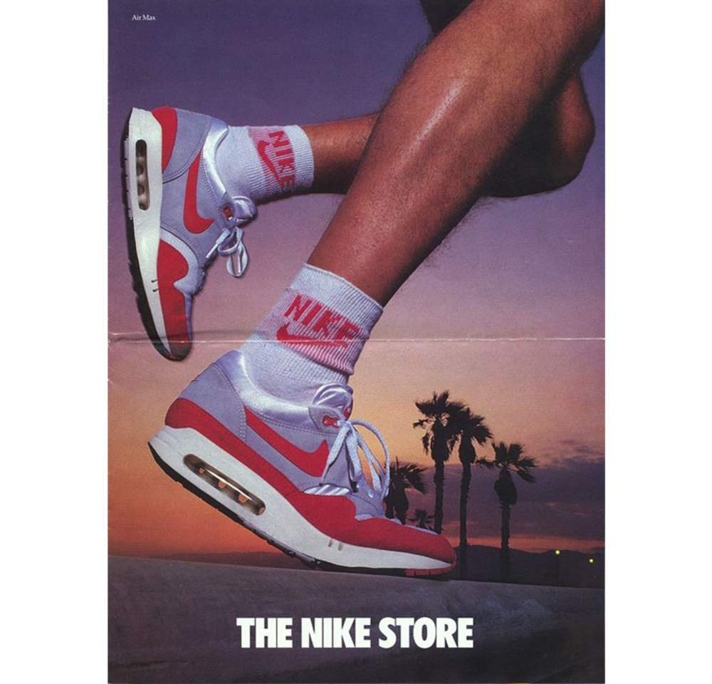 "wholesale dealer eb6c3 43a0a ""Air Max 87 in the Nike Store"", Air Revolution Store Mailer, 1987 Courtesy  Nike"