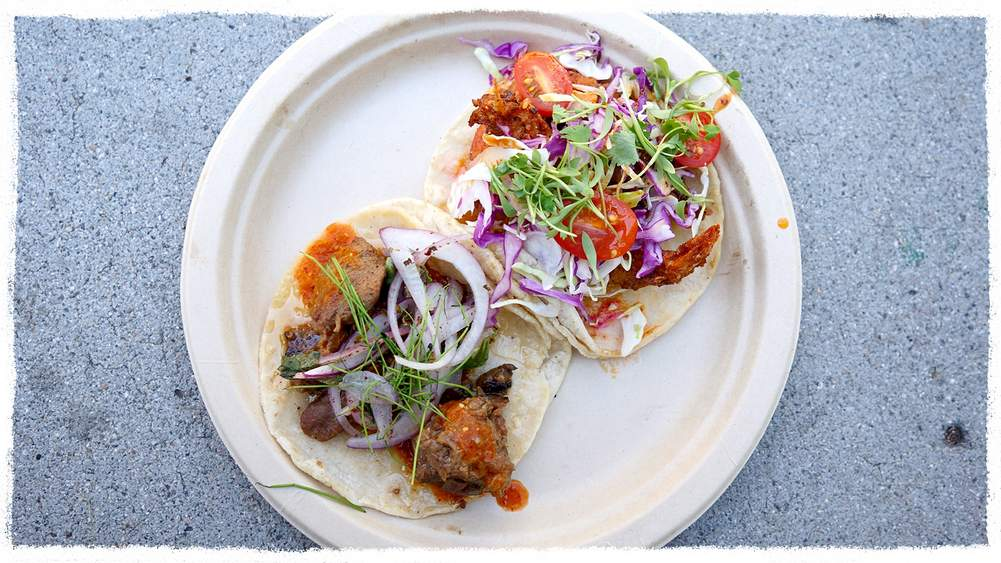 6d8fdfb32b70e Lamb and shrimp tacos by Guerrilla Tacos. Photograph by Mr Peter Cheng  ( theoffalo)
