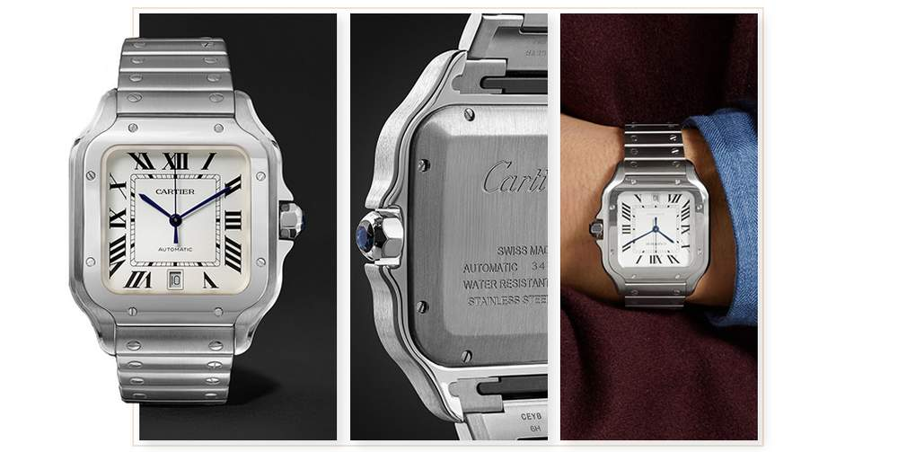c5d8646db0c29 Cartier Santos 39.8mm Interchangeable Stainless Steel and Leather Watch