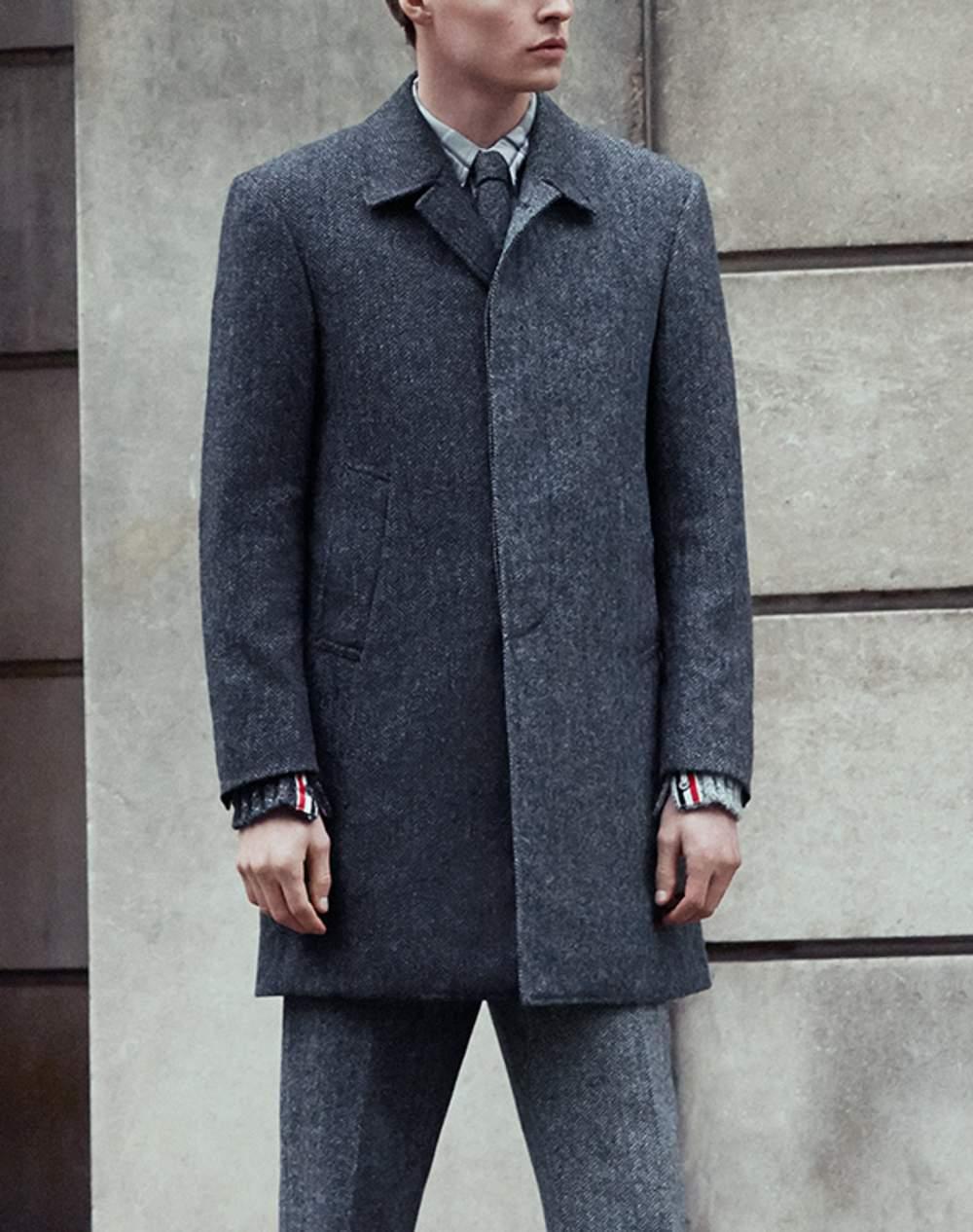 d4bc662bfdd Thom Browne Herringbone Wool-Tweed Overcoat