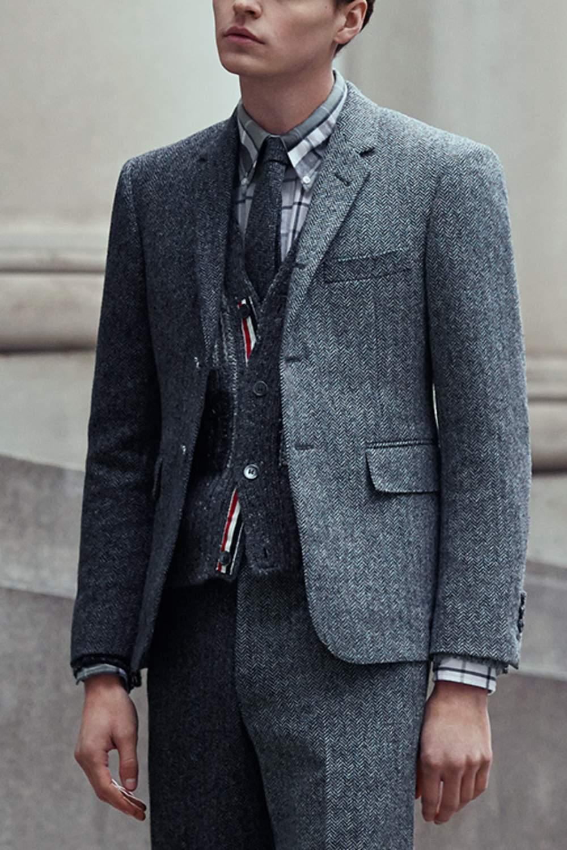 31ea6fc242cd Thom Browne Slim Herringbone Wool-Tweed Tie