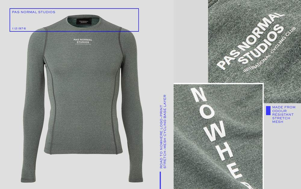 fd3c6cc60bb3 Pas Normal Studios Road to Nowhere Logo-Print Stretch-Mesh Cycling Base  Layer