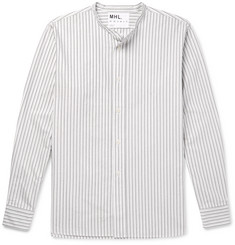 Margaret Howell MHL Grandad-Collar Striped Cotton Shirt