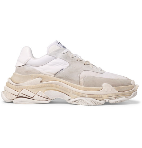 Balenciaga Triple S Shell and Suede Sneakers footlocker finishline online kylTcA3