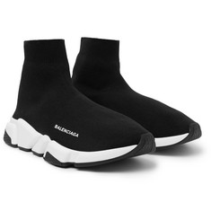 Balenciaga - Speed Sock Stretch-Knit Sneakers