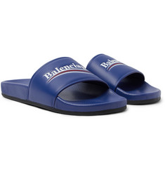 Balenciaga - Printed Leather Slides