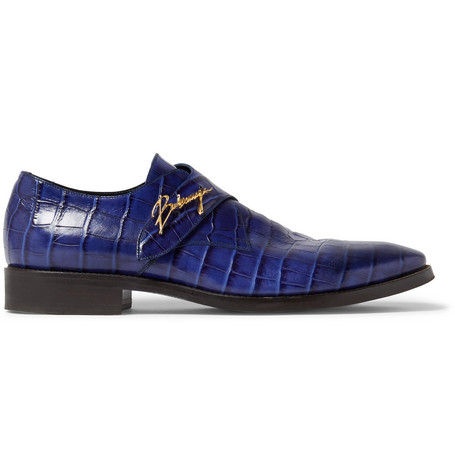 Croc-effect Leather Shoes Balenciaga ndt9GNc