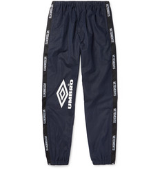 Vetements + Umbro Logo-Trimmed Printed Shell Sweatpants