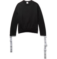 Vetements Oversized Tape-Trimmed Cotton-Jersey Sweatshirt