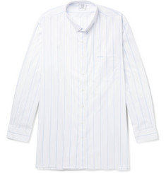 Vetements Oversized Button-Down Collar Striped Cotton-Poplin Shirt
