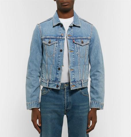 + Levi's Slim Fit Panelled Denim Jacket by Vetements