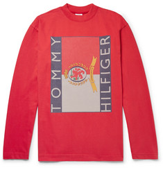 Vetements + Tommy Hilfiger Oversized Printed Cotton-Jersey Sweatshirt