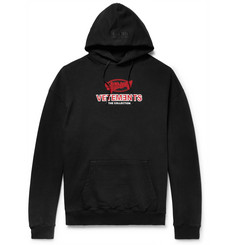 Vetements Logo-Printed Loopback Stretch Cotton-Jersey Hoodie