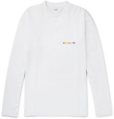 Vetements Oversized Printed Cotton-Jersey Sweatshirt