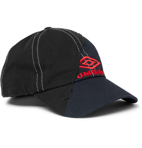 Vetements + Umbro Embroidered Cotton-Twill Baseball Cap In Navy ... e7dc47b9c735