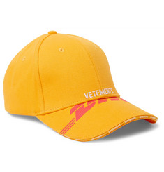 Vetements + DHL Printed and Embroidered Cotton-Twill Cap