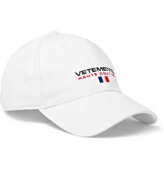 Vetements - Embroidered Cotton-Twill Baseball Cap