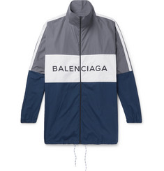 Balenciaga Colour-Block Cotton-Shell Jacket