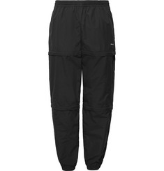 Balenciaga Tapered Zip-Panelled Shell Trousers