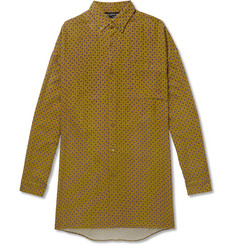 Balenciaga Oversized Button-Down Collar Paisley-Print Brushed-Twill Shirt