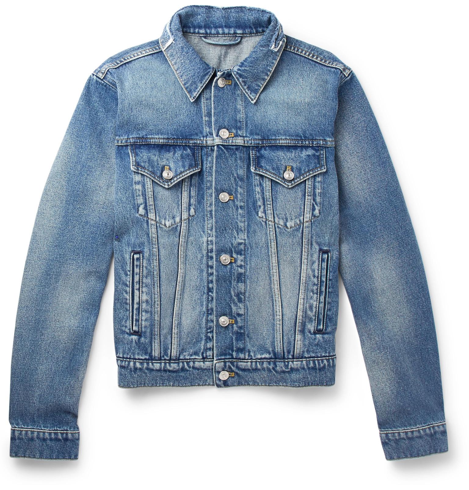 d6bfa43d93 Balenciaga - Cropped Embroidered Distressed Denim Jacket
