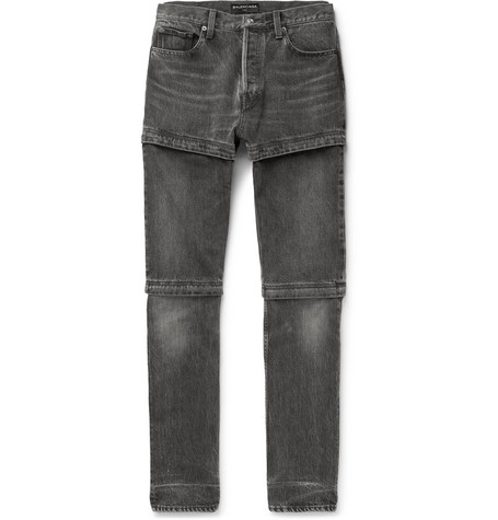 Zip Panelled Denim Jeans by Balenciaga