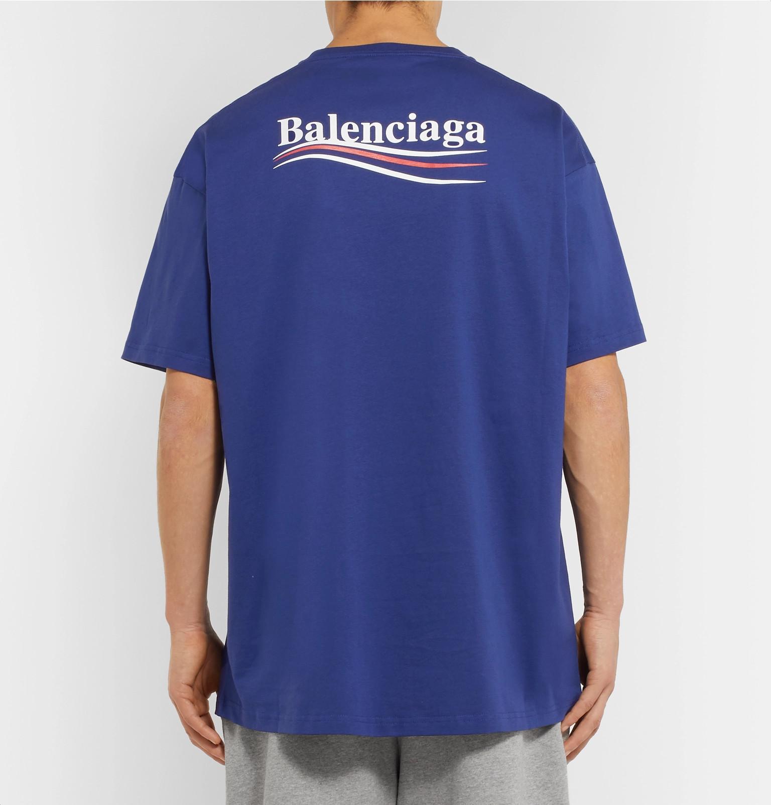 aec674b2ba3c Balenciaga - Printed Cotton-Jersey T-Shirt
