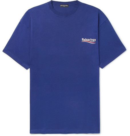a1cfcde0f Balenciaga - Printed Cotton-Jersey T-Shirt