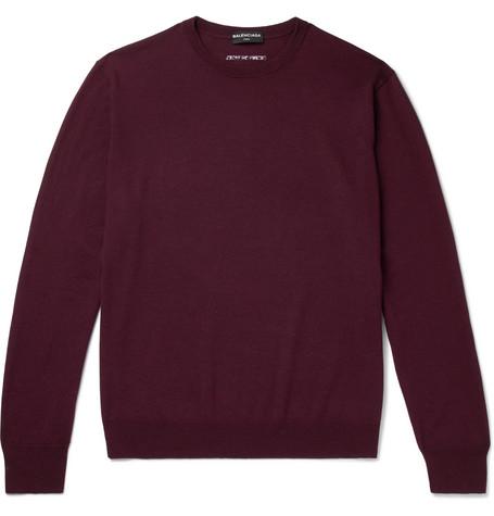 Virgin Wool Blend Sweater by Balenciaga