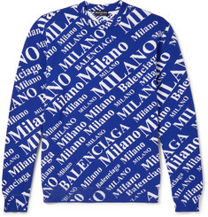 Balenciaga Oversized Jacquard-Knit Virgin Wool-Blend Sweater