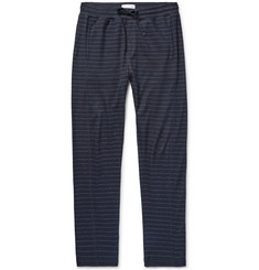 Hamilton and Hare Striped Cotton and Cashmere-Blend Sweatpants