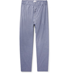 Hamilton and Hare Cotton and Cashmere-Blend Twill Pyjama Trousers