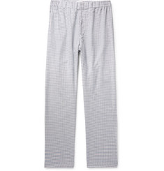 Hamilton and Hare Checked Cotton and Cashmere-Blend Pyjama Trousers