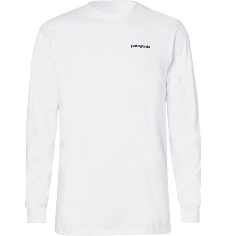 P 6 Responsibili Tee Printed Cotton Blend Jersey T Shirt by Patagonia