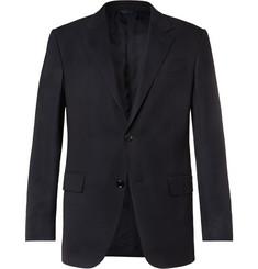 Zegna Navy 10-Pocket Stretch Wool and Silk-Blend Blazer,Navy