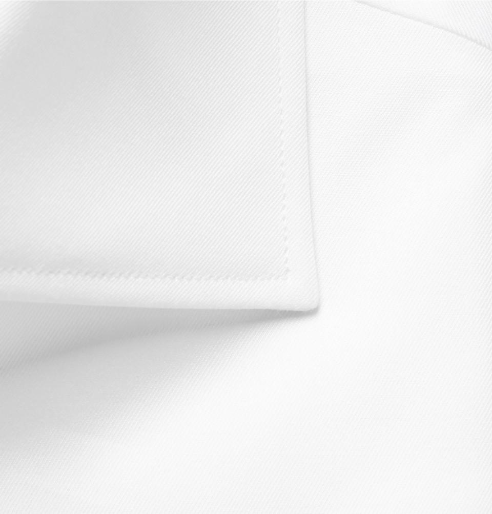 Ermenegildo Zegna White Trofeo Cutaway-Collar Cotton-Poplin Shirt