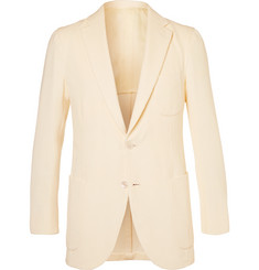 P. Johnson Cream Stretch Cotton-Blend Corduroy Suit Jacket