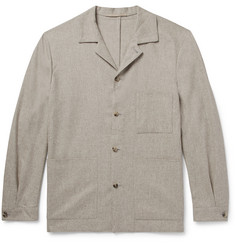 P. Johnson Camp-Collar Wool and Silk-Blend Shirt Jacket