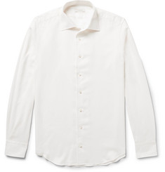 P. Johnson Cotton and Cashmere-Blend Shirt