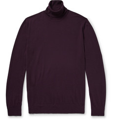 P. Johnson Slim-Fit Merino Wool Rollneck Sweater