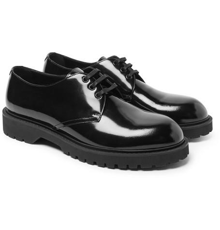 Liverpool Patent-leather Derby Shoes Saint Laurent MbdLEGWd01