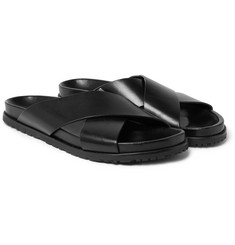 Saint Laurent Leather Slides